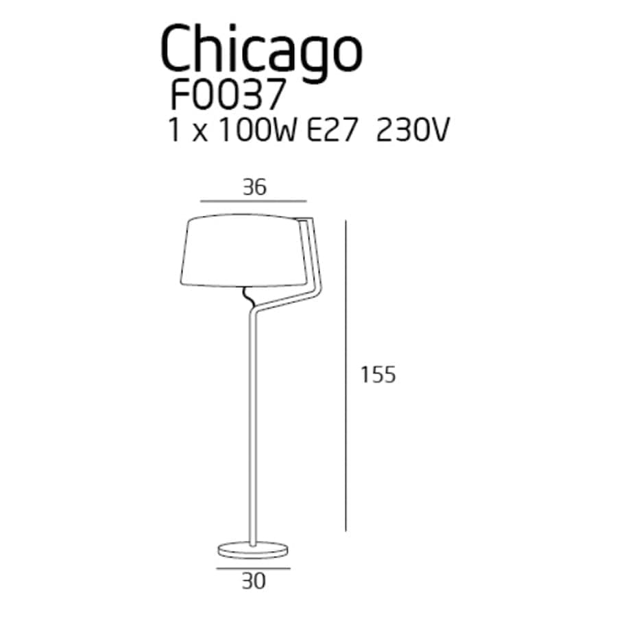 Pastatomas šviestuvas Chicago CH