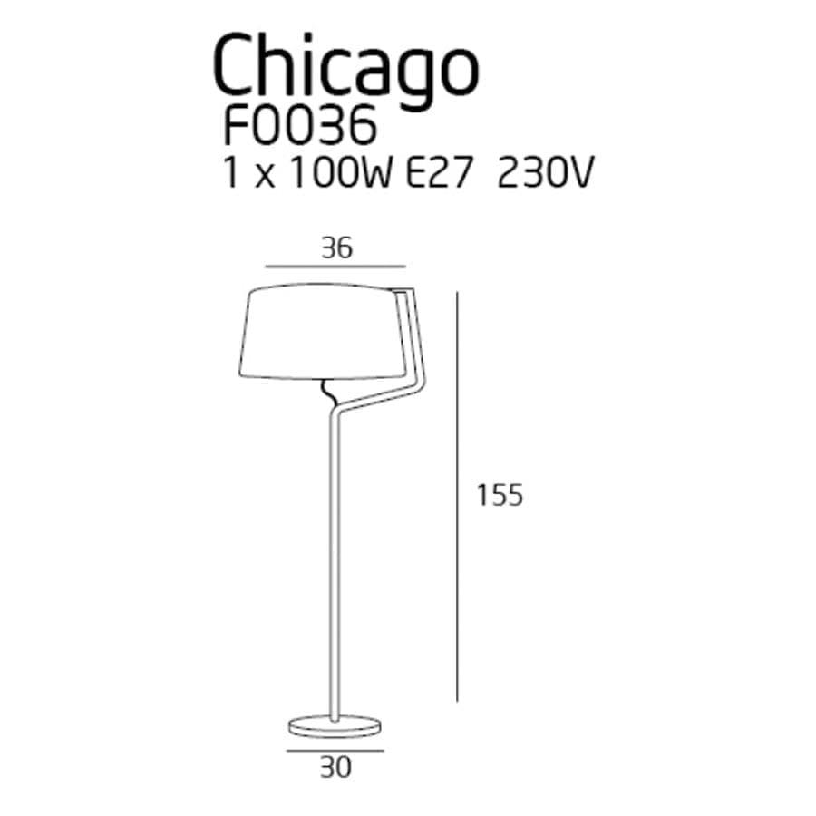 Pastatomas šviestuvas Chicago BK