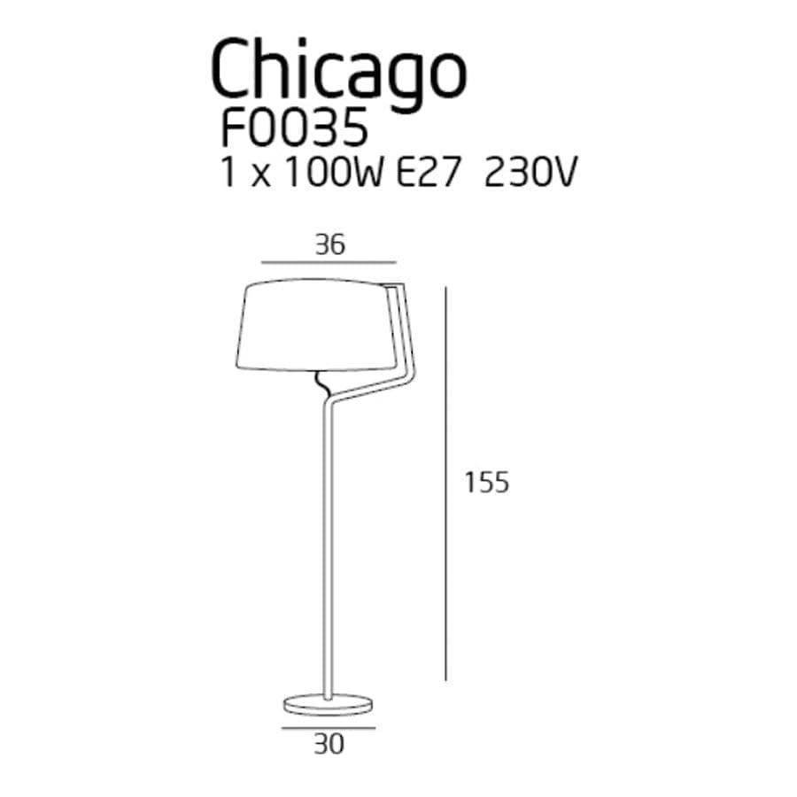 Pastatomas šviestuvas Chicago WH