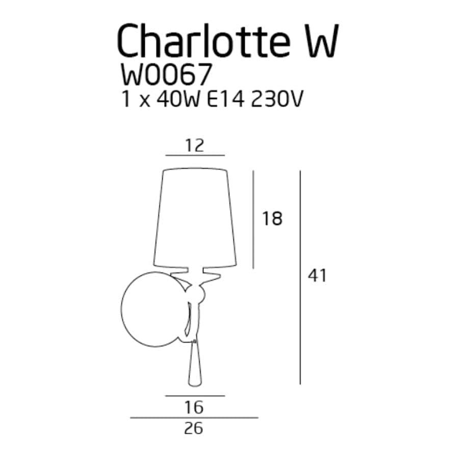 Sieninis šviestuvas Charlotte