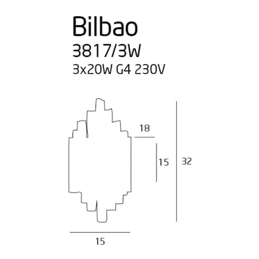 Sieninis šviestuvas Bilbao