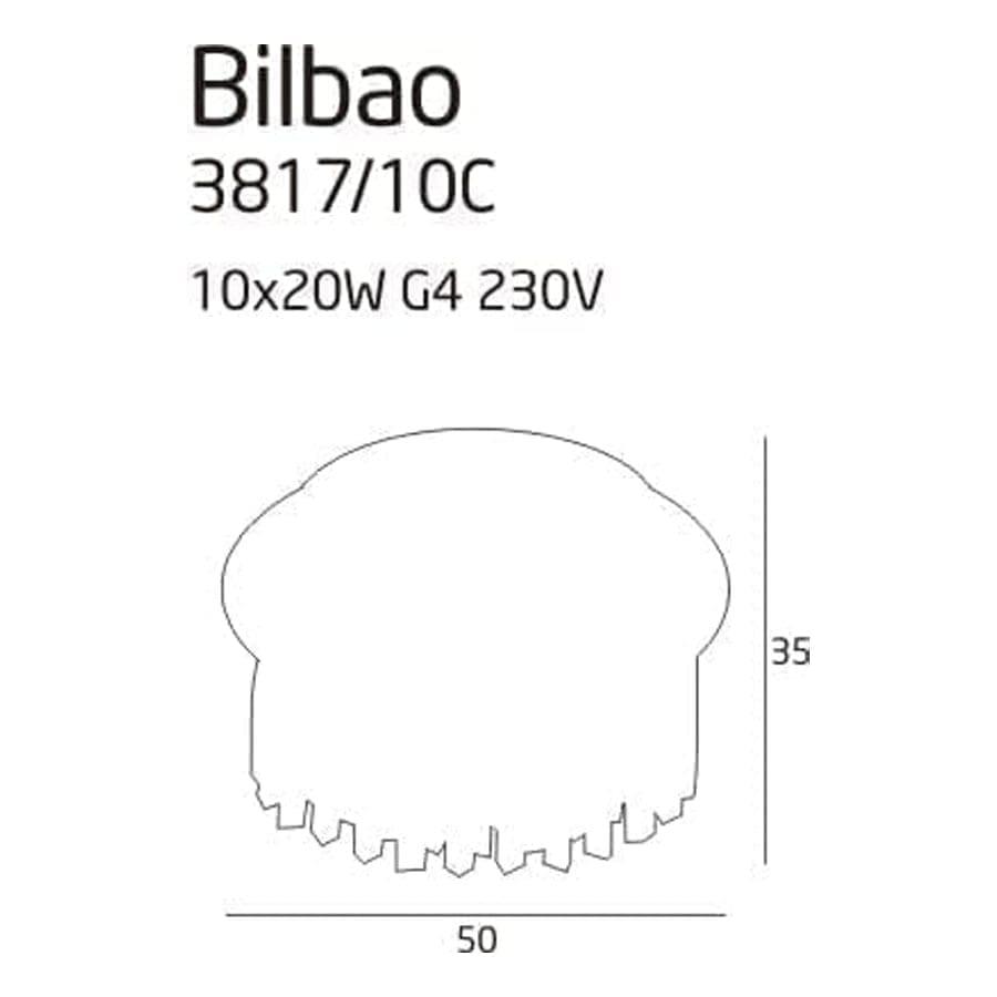 Lubinis šviestuvas Bilbao