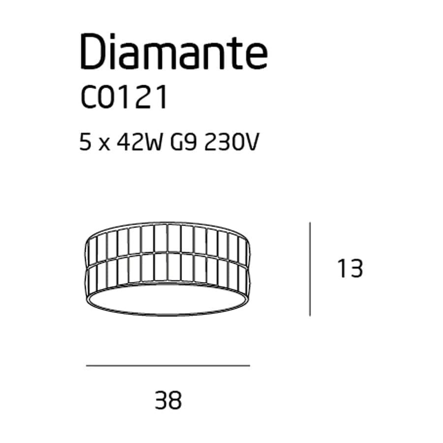 Lubinis sviestuvas Diamante ø38