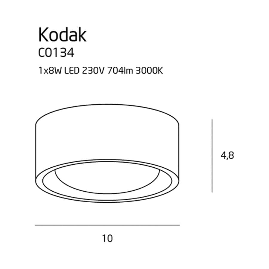 Lubinis LED šviestuvas Kodak C0134
