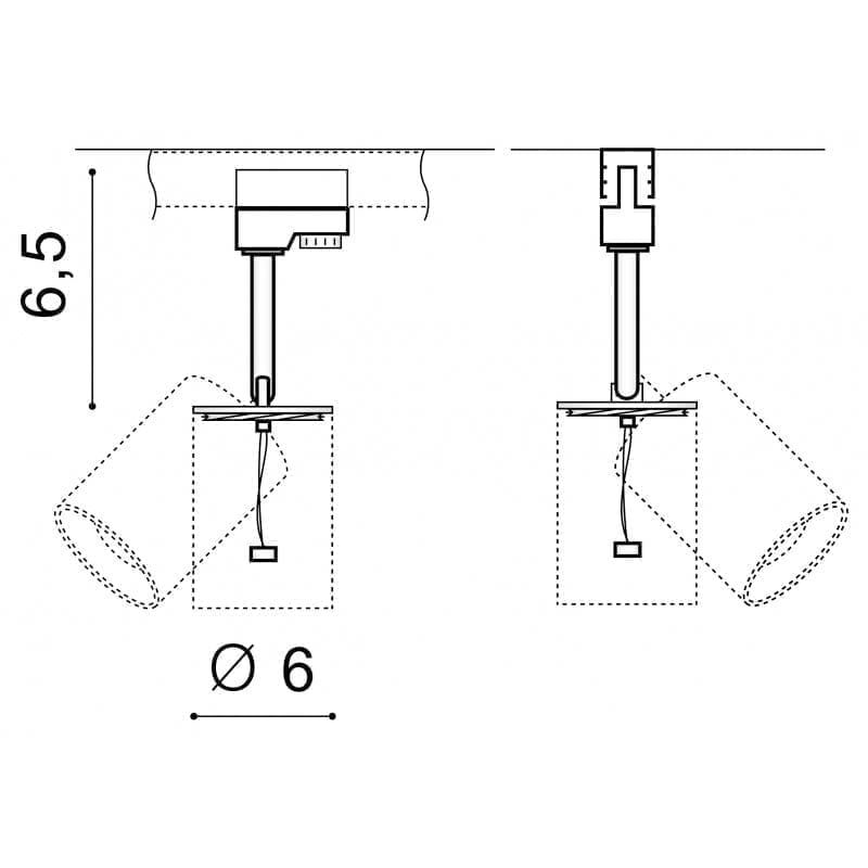 Track sistemos šviestuvas Erebus 14
