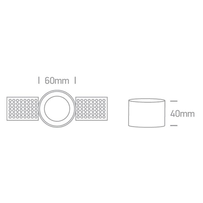 Užglaistomas šviestuvas 10105TR/W matmenys