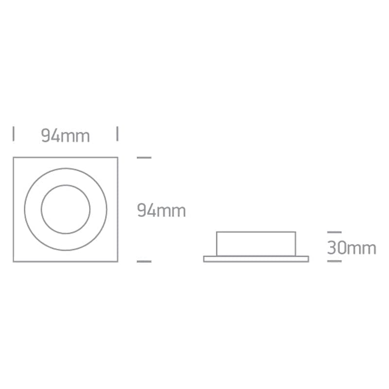 Įmontuojamas kryptinis šviestuvas 51105ABG/W matmenys