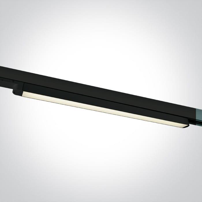 Track sistemos šviestuvas Linear 4000K Juodas