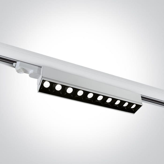Track sistemos šviestuvas Linear 65024T/W/W Baltas