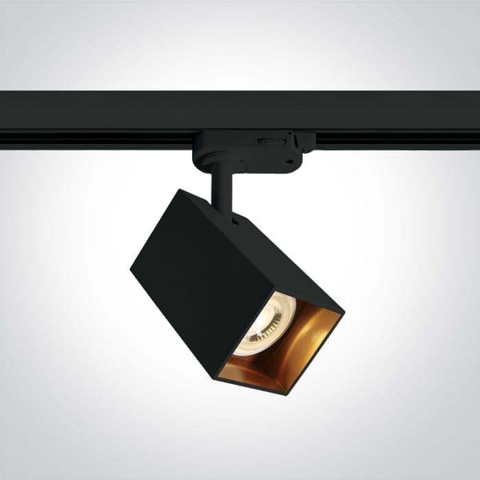 Track sistemos šviestuvas Square 65105NAT/B Juoda/auksinė