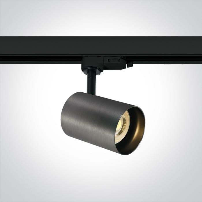 Track sistemos šviestuvas Round 65105NT/MG Metalo