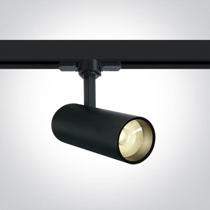 Track sistemos šviestuvas Cylinder 65642AT/B/W Juodas