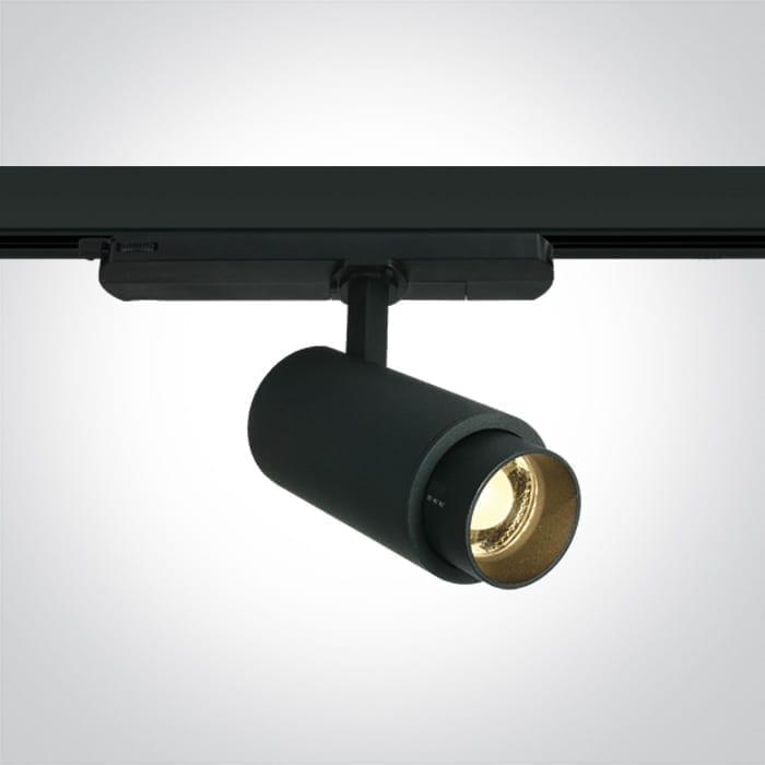 Track sistemos šviestuvas Zoomable 65650AT/B/W Juodas