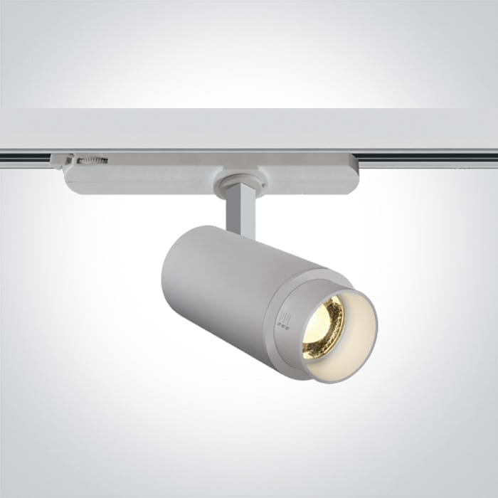 Track sistemos šviestuvas Zoomable 65650AT/W/W Baltas