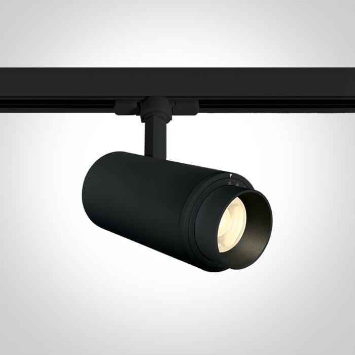 Track sistemos šviestuvas Zoomable 4000K Juodas