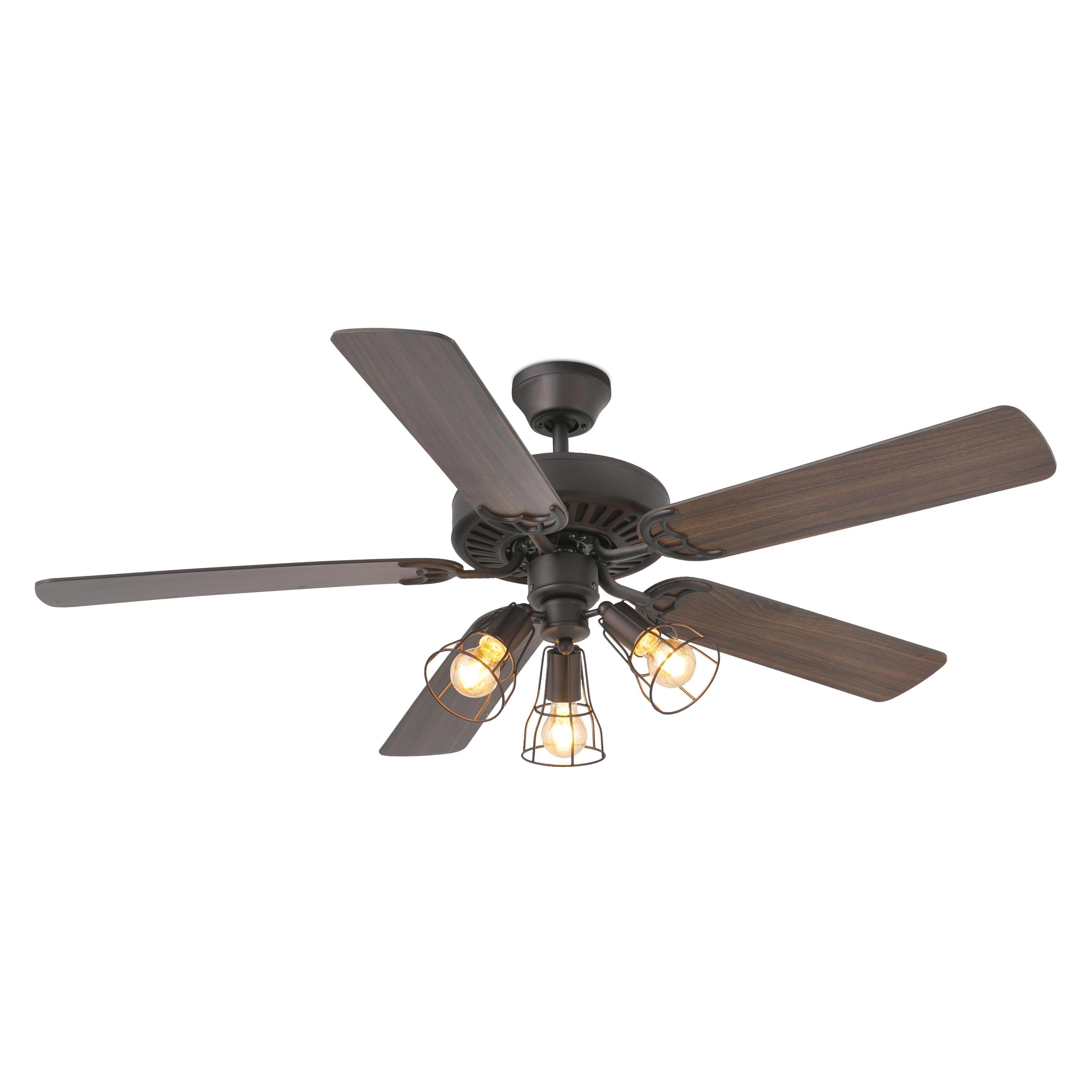 Lubinis šviestuvas/ventiliatorius Aloha Rudas