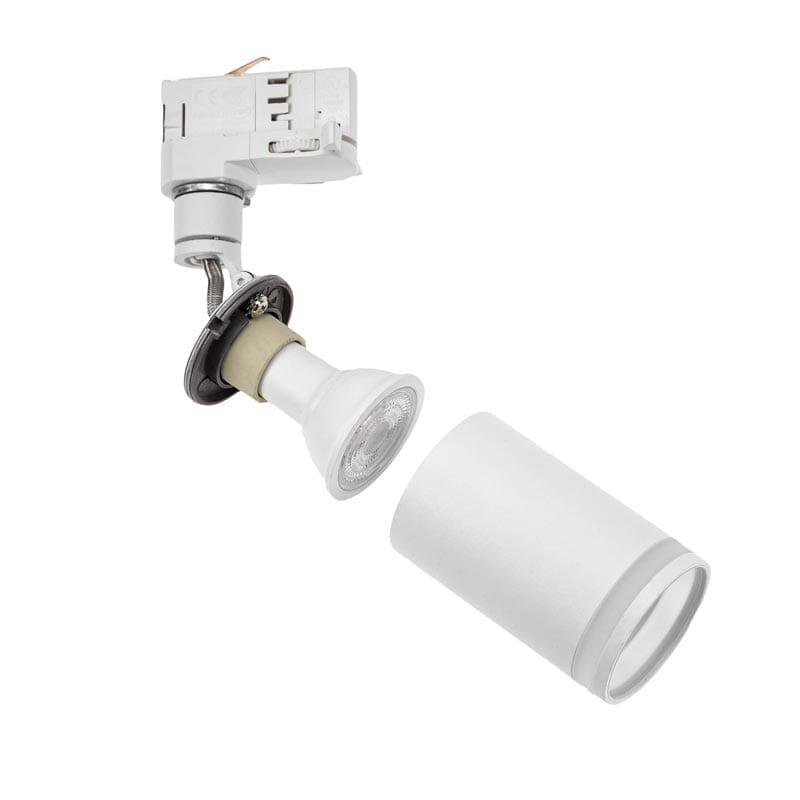 Track sistemos šviestuvas Madara mini ring Baltas