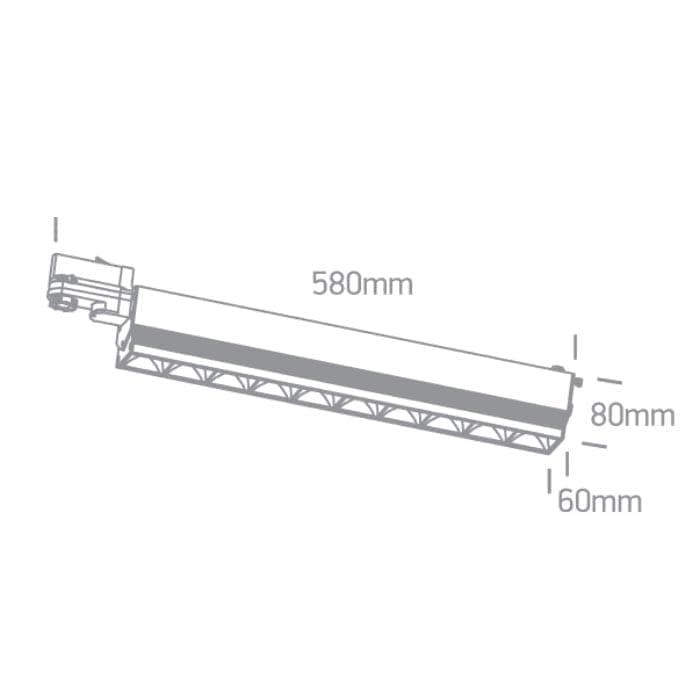 Track sistemos šviestuvas Linear 65024T/B/C Juodas