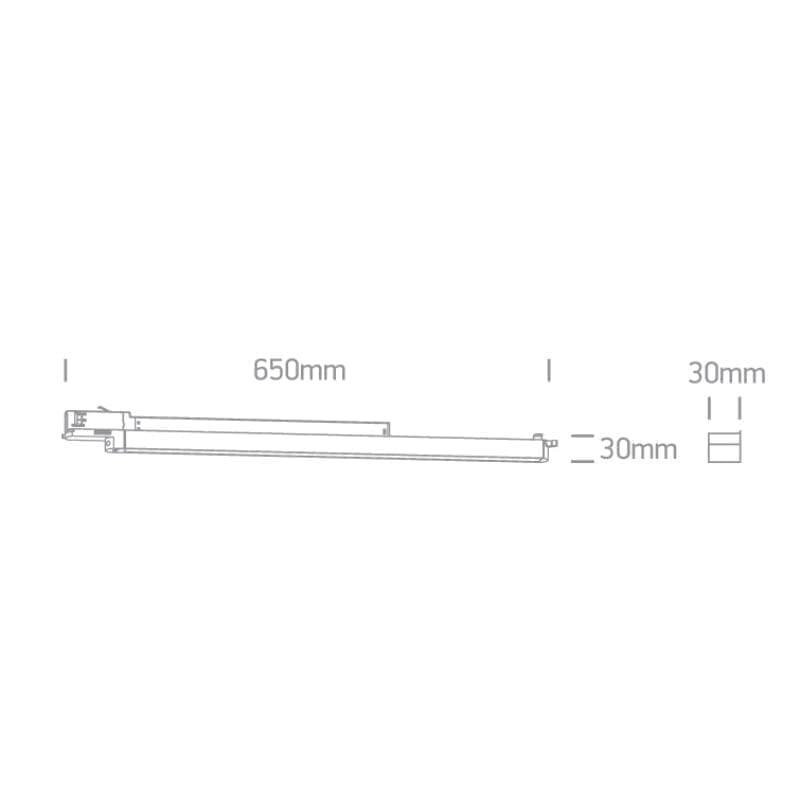 Track sistemos šviestuvas Linear 3000K Baltas