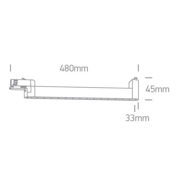 Track sistemos šviestuvas Linear 65024TA/W/W Baltas