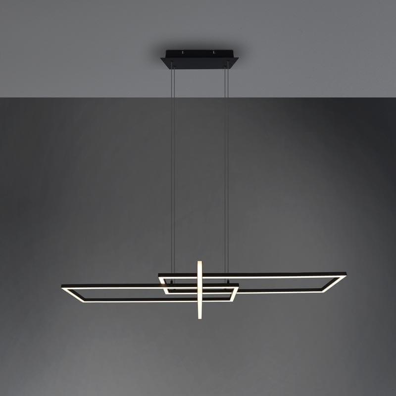 Pakabinamas LED šviestuvas Salinas matinė juoda